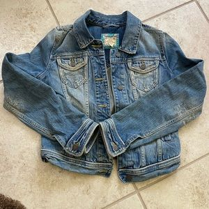 Abercrombie & Fitch distressed denim jacket